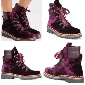 078b7769b5cc0c ... Sam Edelman Shoes - SAM EDELMAN BROWAN WINE VELVET LACE HIKER BOOTS 7  most popular 1fd18 ...